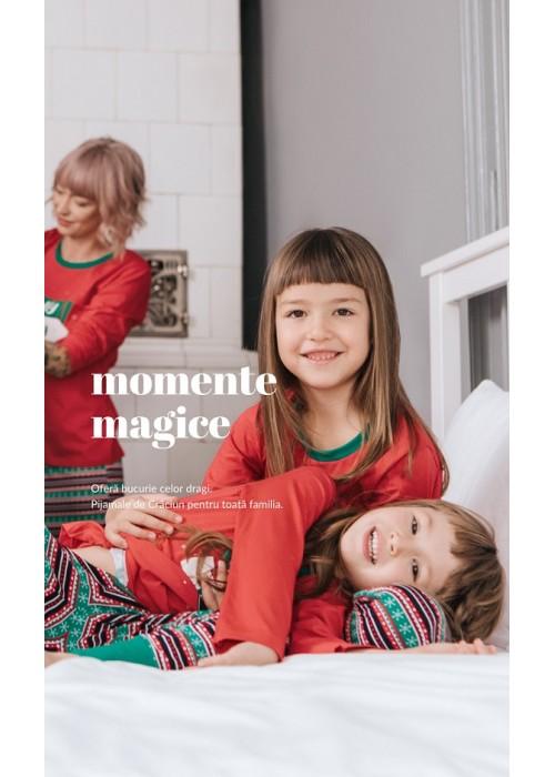 Pijamale Craciun pentru toata familia
