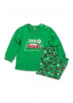 Pijama baby cars bumbac organic green