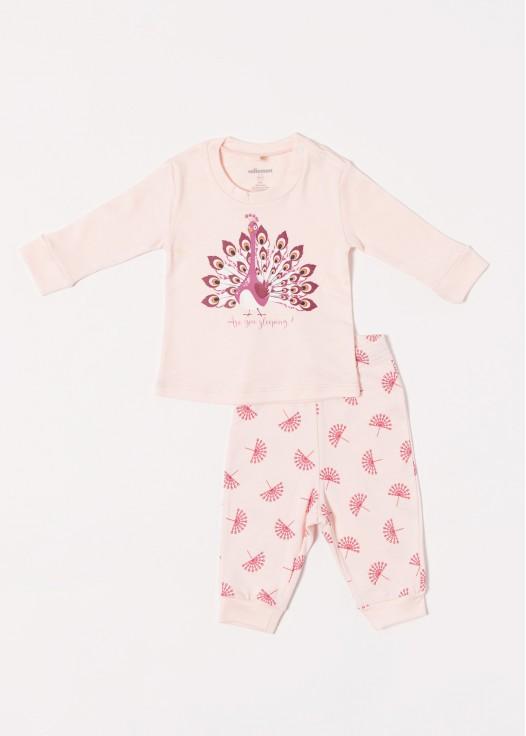 Pijama bebe modal Peacock
