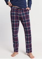 Pijama barbati bumbac maneca lunga Dilan bleumarin
