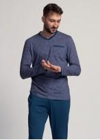 Pijama barbati modal cu maneca lunga Garet