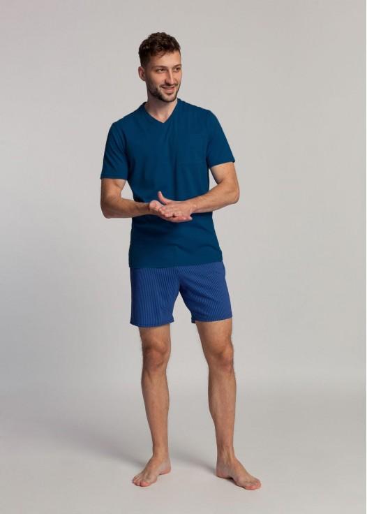 Pijama barbati bumbac organic Blue Stripes eclipse