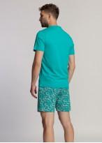 Pijama barbati bumbac organic Green Waves