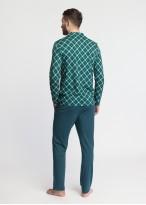Pijama barbati Green Tartan imprimat
