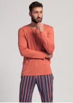 Pijama modal barbati Urban Story burnt sienna