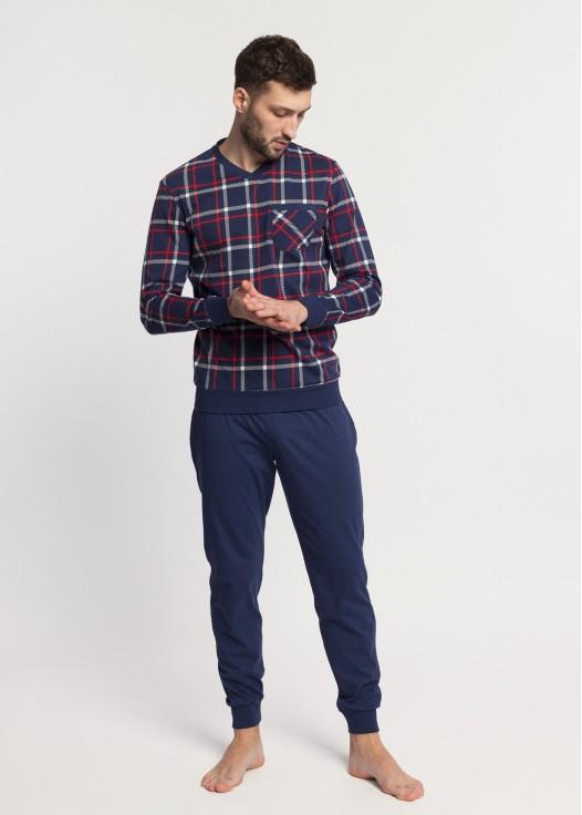 Pijama barbati bumbac cu mansete Dilan