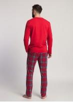Pijama barbati bumbac cu maneca lunga Dave