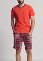 Pijama scurta barbati Giulian Red