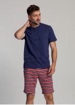 Pijama scurta barbati Giulian bleumarin
