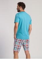 Pijama barbati bumbac Glen bleu
