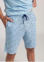 Pijama barbati bumbac Ethan blue