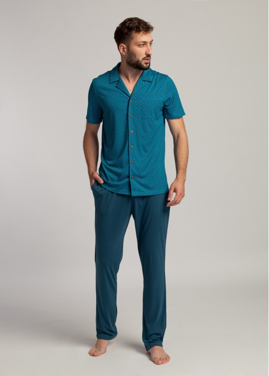 Pijama descheiata barbati bambus Derek