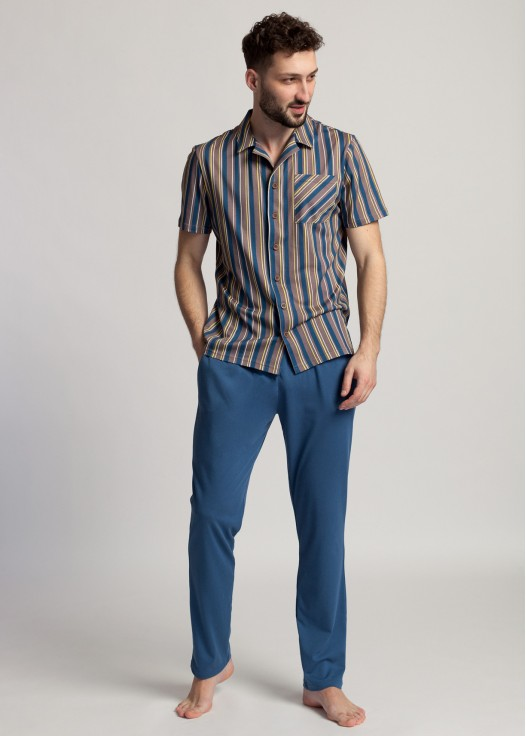 Pijama barbati modal cu nasturi Urban Story