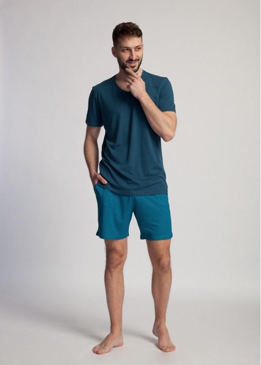 Pijama barbati bambus Derek Majolica Blue