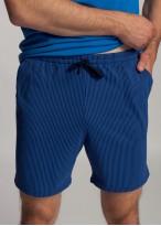 Pijama barbati bumbac organic cu nasturi Blue Stripes star sapphire