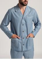 Pijama tesatura bumbac barbati dungi denim