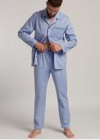 Pijama tesatura bumbac barbati dungi bleu