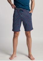 Pijama barbati bumbac Fabian bleumarin