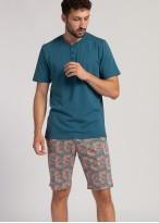 Pijama barbati bumbac Gilmore blue