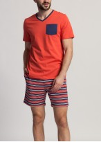 Pijama barbati bumbac Giulian Red