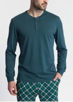 Pijama barbati modal Green Tartan verde
