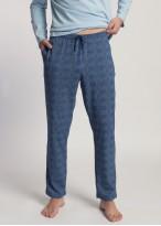 Pijama barbati bumbac Grant cerulean