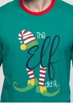 Pijama barbati Craciun Elf verde