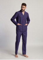 Pijama bumbac descheiata barbati Victor