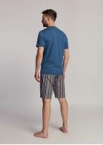 Pijama barbati modal cu nasturi Urban Story bleumarin