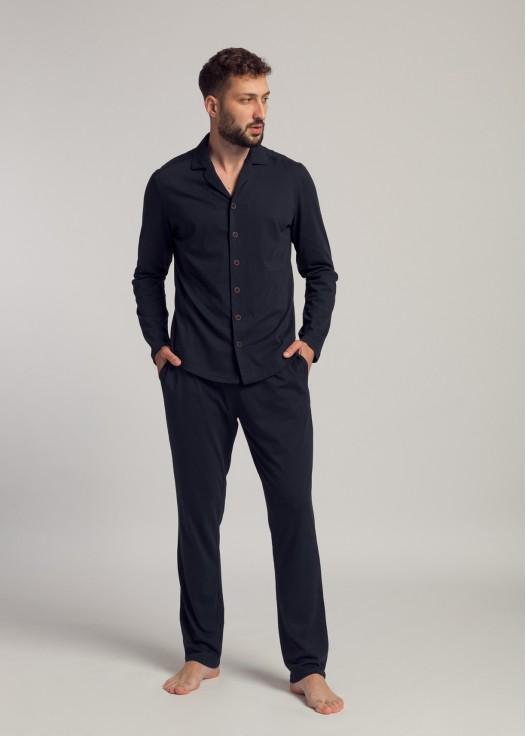 Pijama bumbac barbati Vlad bleumarin