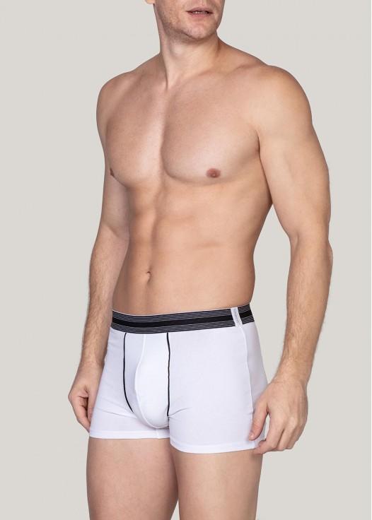 Boxeri barbati bumbac alb
