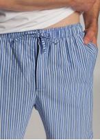 Pantaloni scurti dungi albastre