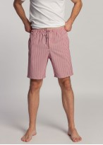 Pantaloni scurti dungi rosii