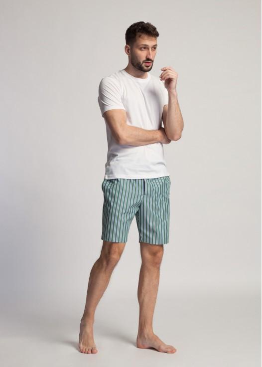 Pantaloni scurti dungi verzi