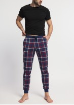 Pantaloni pijama barbati bumbac cu mansete Dilan