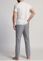 Pantaloni pijama barbati dungi maro