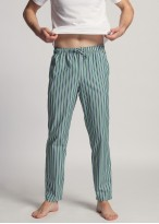 Pantaloni pijama barbati dungi verzi