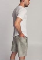 Pantaloni scurti barbati in Cool Flax vernil