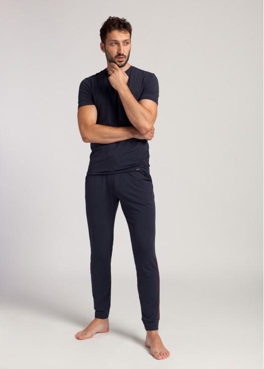 Pantaloni barbati modal Soft Touch bleumarin