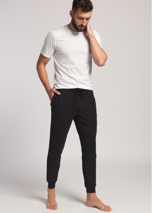 Pantaloni trening barbati negru
