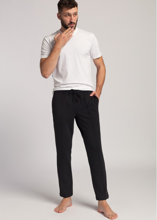 Pantaloni trening negri barbati