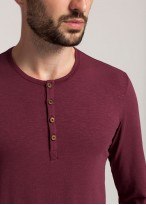 Bluza nasturi barbati modal Soft Touch bordo