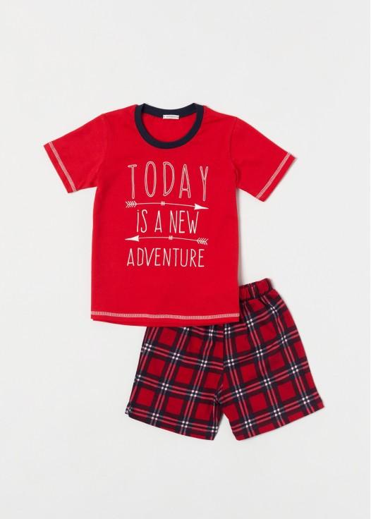 Pijama baieti rosu