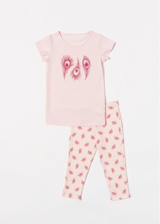 Pijama copii modal Peacock pink