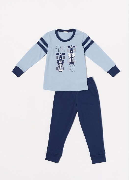 Pijama bumbac baieti Grant