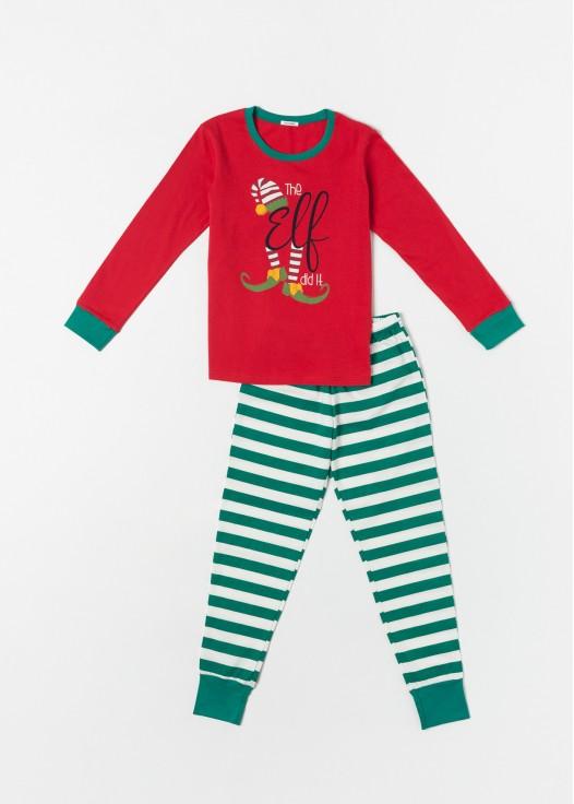 Pijama copii Craciun Elf rosu