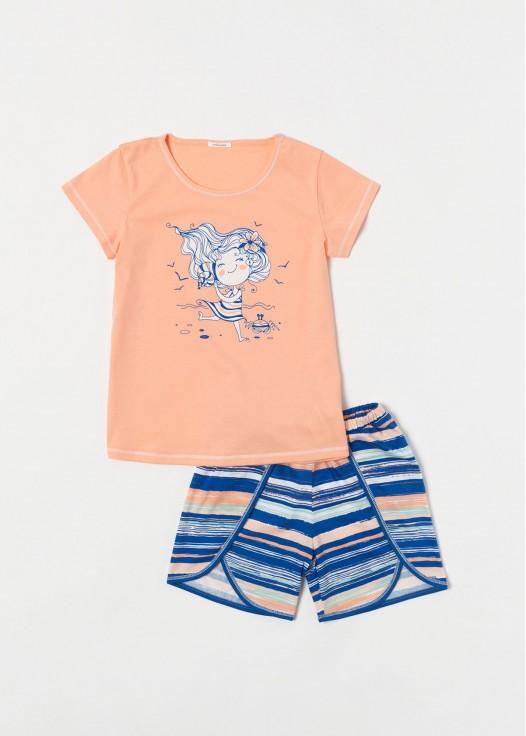 Pijama fetite bumbac Georgiana