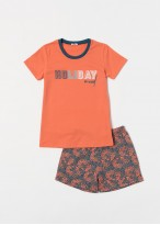 Pijama baieti bumbac Gilmore portocaliu