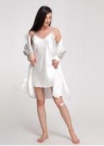 Camasa noapte satin alb Pearl