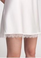 Camasa noapte satin alb Bride